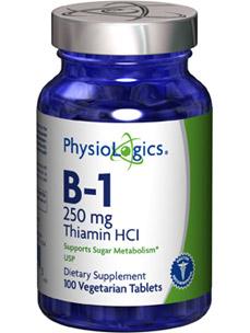 B-1 Thiamine HCL 250 mg 100 vtabs